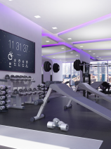 YOTEL / YOTELPAD Dubai - Rendering - gym and fitness