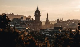 Edinburgh city skyline