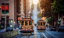 San Francisco cable cars and trams