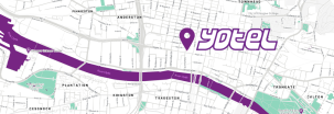 YOTEL Glasgow map