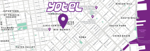 YOTEL San Francisco map