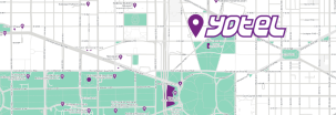 YOTEL Washington DC map