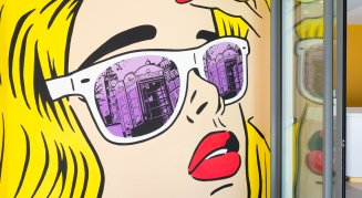 YOTEL London entrance mural
