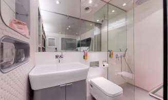 YOTELAIR Paris CDG cabin bathroom