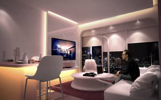 YOTELPAD Dubai Downtown PAD living room