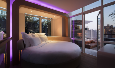 YOTEL New York VIP cbain at night
