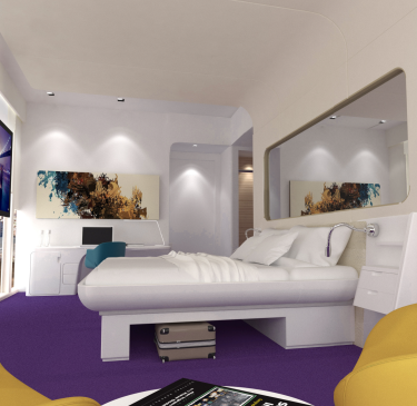 YOTEL Dubai Downtown VIP Suite bedroom