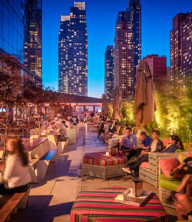 YOTEL New York terrace and bar