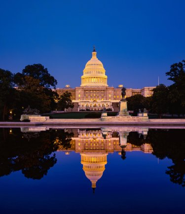 Capitol Hill, Washington DC by night